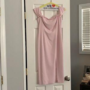 New Jay Godfrey pink midi dress